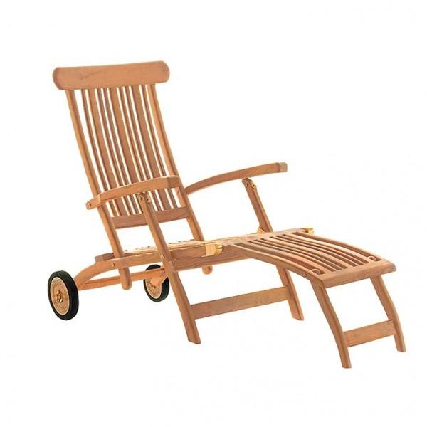 deVries Flores Deckchair mit Rädern