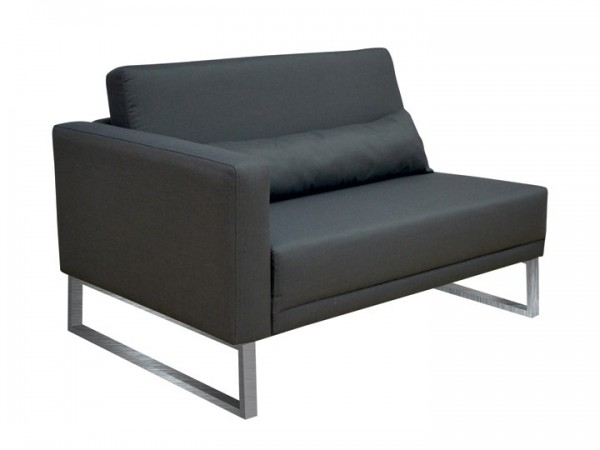 Loungegruppe-Modul Bari Abschluss links 1.5-Sitzer Silvertex Livingruhm