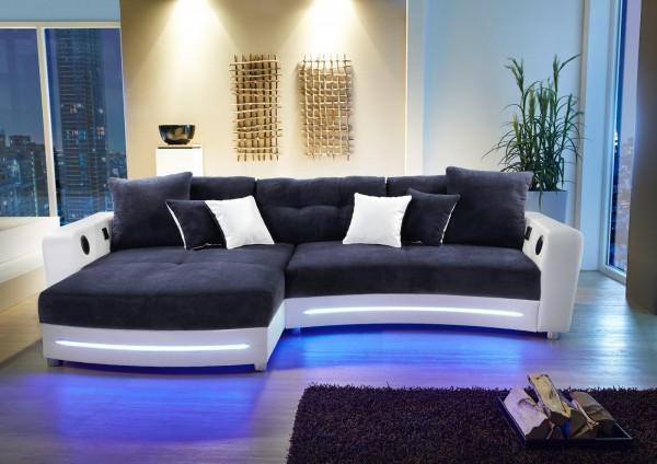 Jockenhöfer Sofa Laredo blau/weiss