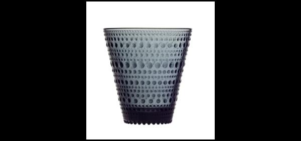 iittala Trinkglas Kastehelmi 0,3 l dunkelgrau (2er-Set)