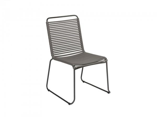 Exotan Stuhl Ripp Grau ohne Armlehne
