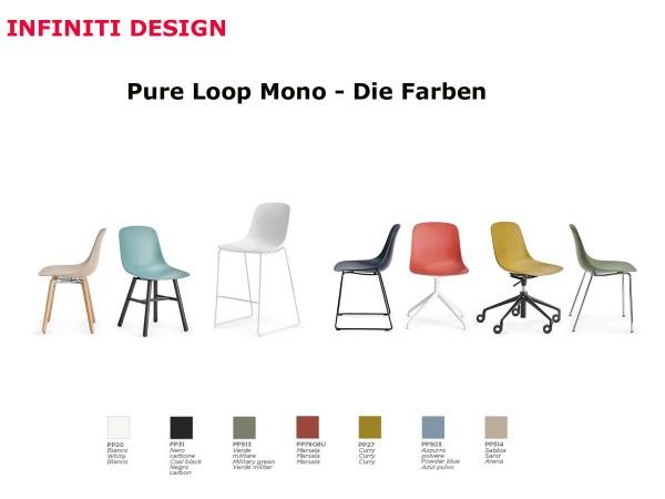 Infiniti Pure Loop Mono Stuhl stapelbar 4er Set