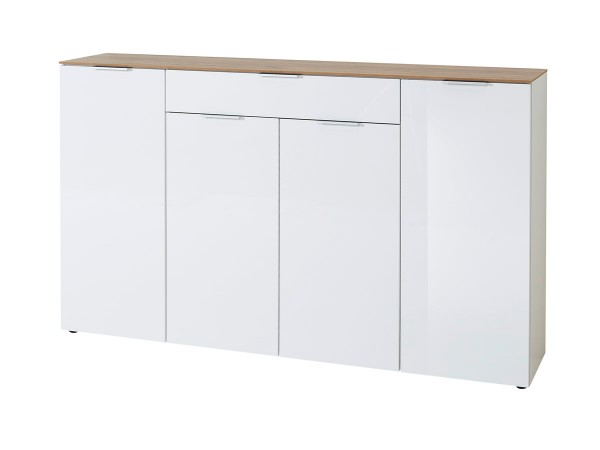 Sideboard Cetano 3822 Eiche Weiß 179 cm breit