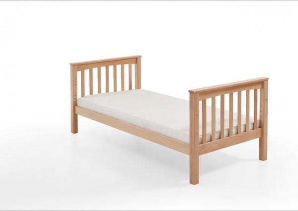 Kinderbett Einzelbett Kick 90x200 cm Buche massiv Natur