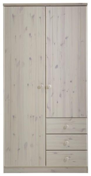Steens Kleiderschrank Ribe 106 White wash, 202 x 100 cm