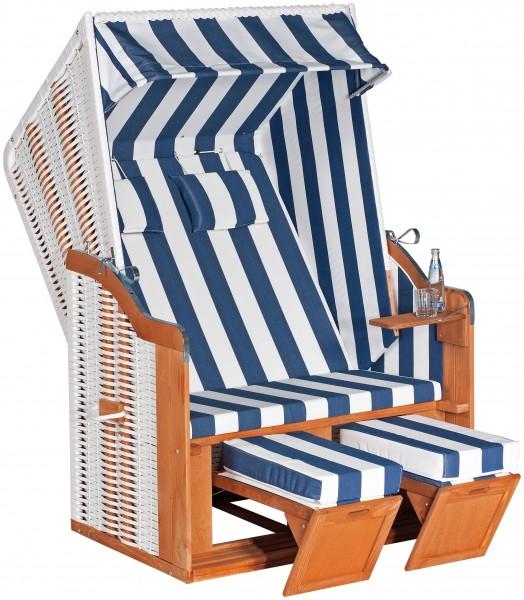 Sunny Smart Strandkorb Rustikal 50 Plus weiß/blau