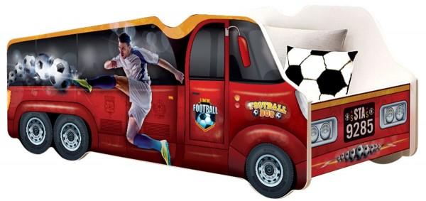 Autobett LKW Fußball mit Rollrost + Matratze 70x140cm Kinderbett Spielbett