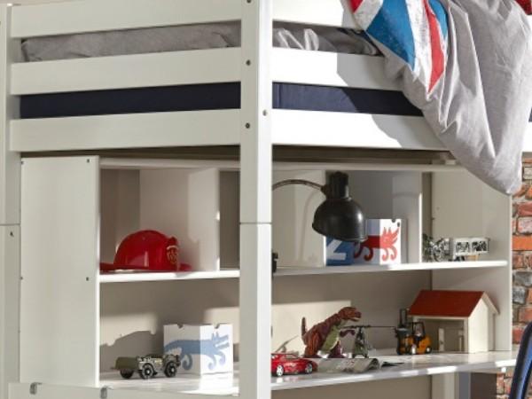 Regalaufsatz Ilka Weiß passend zu Schreibtisch für Kinderbett Toli - Campus