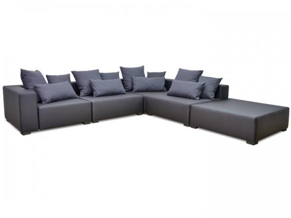 Lounge Kubik für den Garten 22-teilig Silvertex Livingruhm