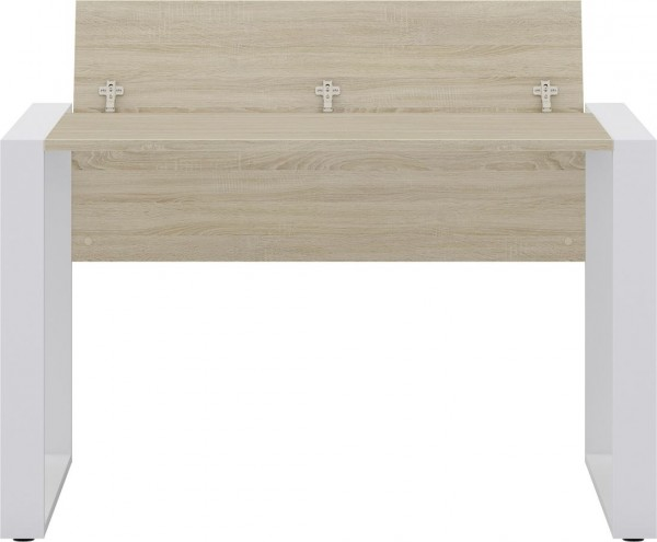 Schreibtisch direct 120 cm Sonoma Eiche mit Kufenfuß