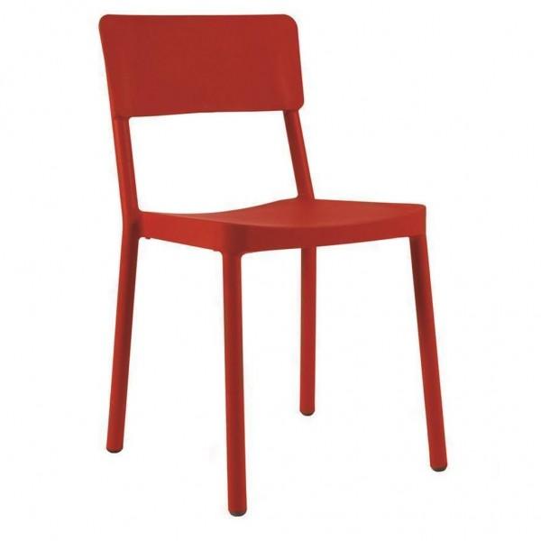 Resol Stuhl Lisboa rot
