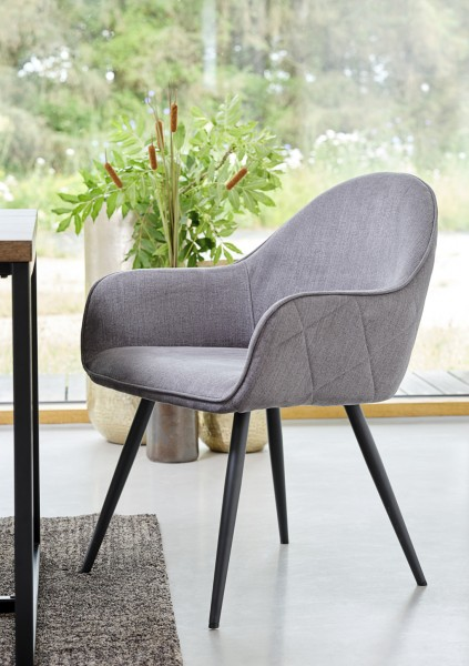 Stuhl Minto in Grau von Livingruhm