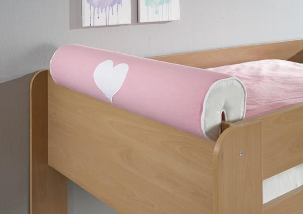 Relita Nackenrolle Herz rosa/weiß