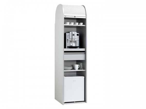 MS-Schuon Dancer Kaffeeschrank mit Kühlschrank Silber 50cm Klenk Collection