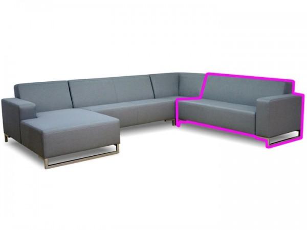 Loungegruppe-Modul Lynn Abschluss rechts 2.5-Sitzer Silvertex Livingruhm