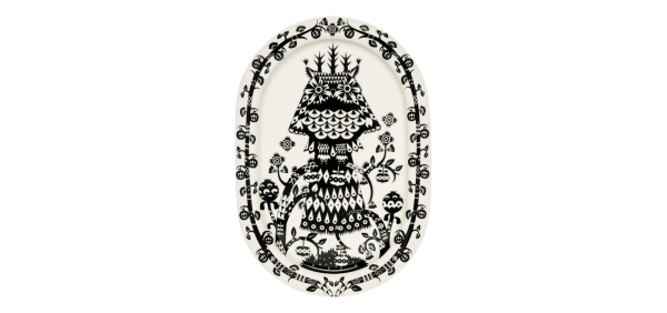 iittala Servierteller Taika schwarz 41 cm