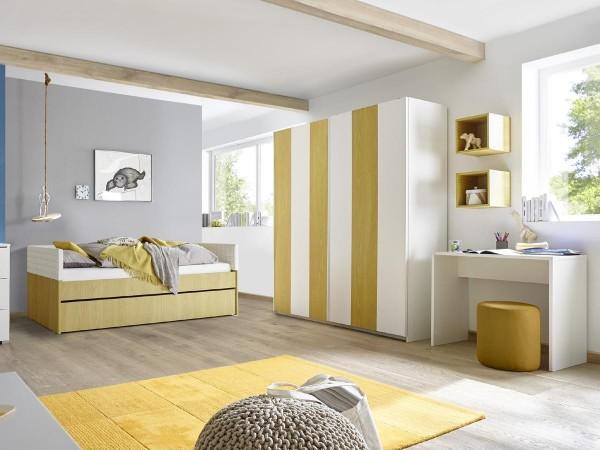 Kleiderschrank Schwebetüren Enjoy 179cm breit in 5 Farben