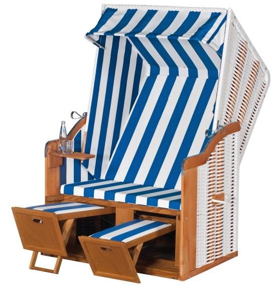 Sunny Smart Strandkorb Rustikal 50 Basic weiß-blau
