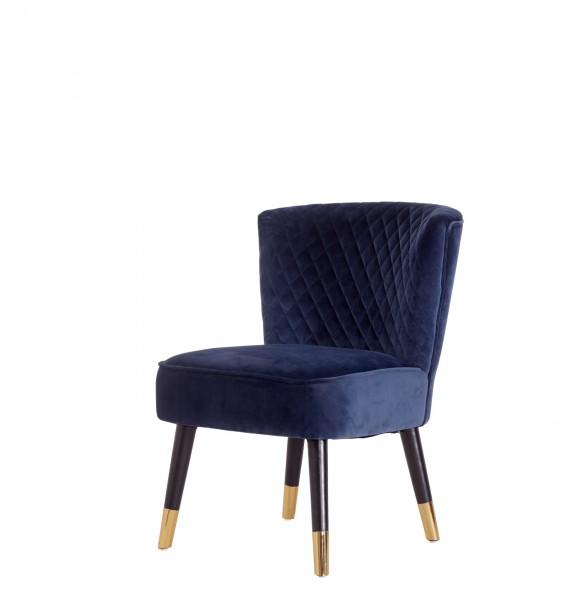 Stuhl Grindstone Samt Blau von Livingruhm