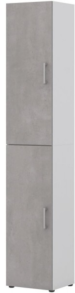 Aktenschrank direct Weiß Front Beton 6 Ordnerhöhen 2 türig