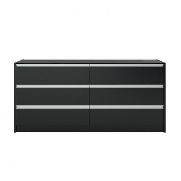 Steens Kommode Skyline 019 schwarz/braun