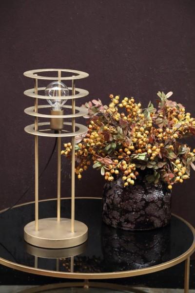 Stehlampe Falcon Glas Gold 55 cm