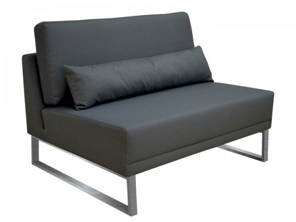 Loungegruppe-Modul Bari Mitte 1.5-Sitzer Silvertex Livingruhm