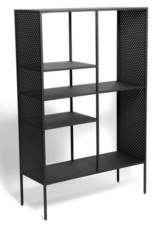 Regal Brooks Metall schwarz lackiert 90 cm breit