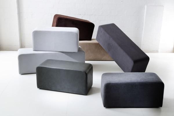 Design Bank Balte taupe 80 cm breit