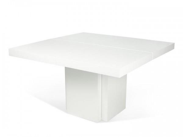 Temahome Dusk Esstisch Hochglanz Weiß 130x130 cm