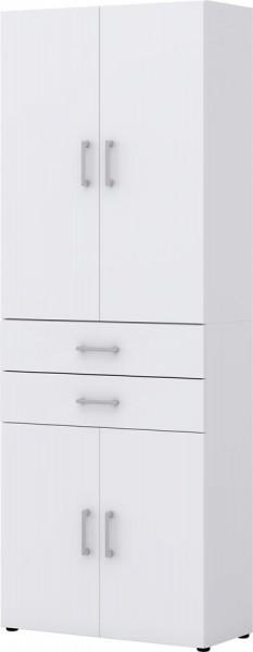 Aktenschrank direct Weiß Front Weiß 6 Ordnerhöhen 4 türig 2 SK