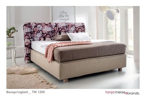 Design Boxspringbett Antonia 180x200 cm floral creme