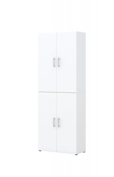 Aktenschrank direct Weiß Front Weiß 6 Ordnerhöhen 4 türig