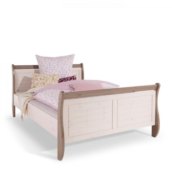 Steens Bett Monaco 654 weiß/braun