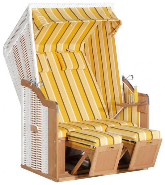 Sunny Smart Strandkorb Rustikal 50 Plus weiß-gelb