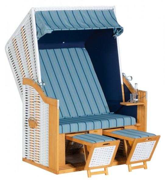 SunnySmart Strandkorb Rustikal 30Z blau-weiß