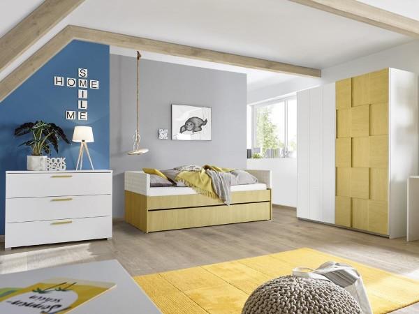 Kleiderschrank Schwebetüren Enjoy 3 179cm breit 4 Farben