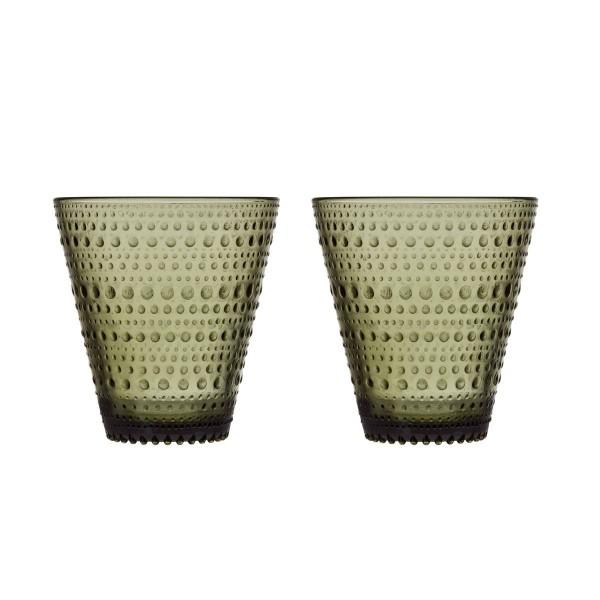 iittala Trinkglas Kastehelmi 0,3 l moos grün (2er-Set)