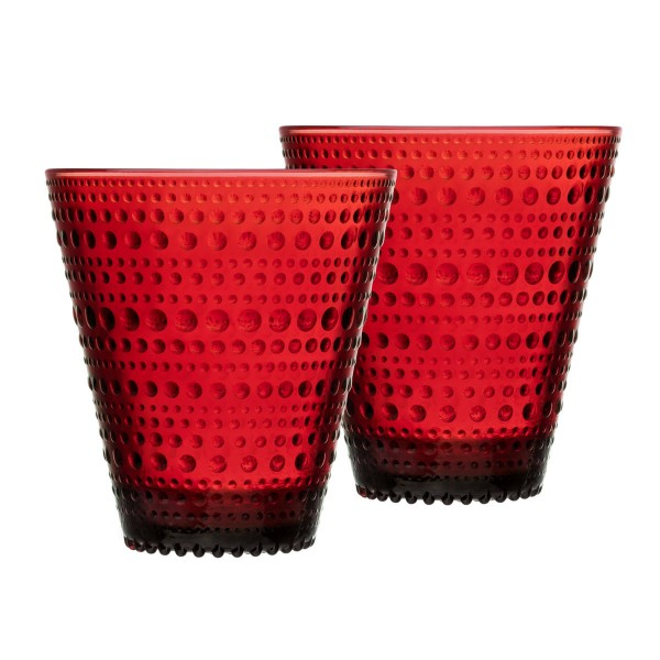 iittala Trinkglas Kastehelmi 0,3 l cranberry (2er-Set)