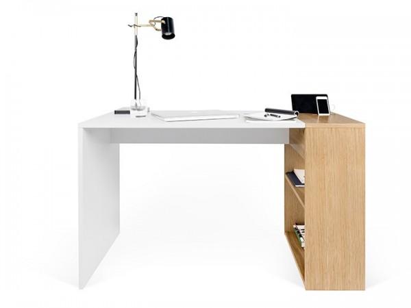 Temahome Harbour Schreibtisch Weiß & Eiche 120x60cm