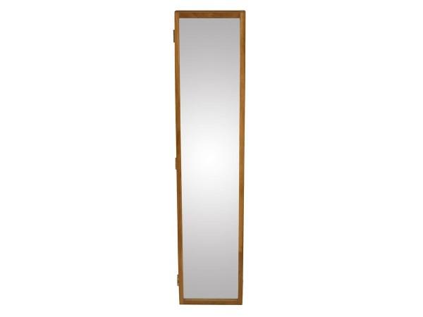 Schlüsselschrank Uno Garderobe mit Spiegel Eiche massiv 20 cm breit