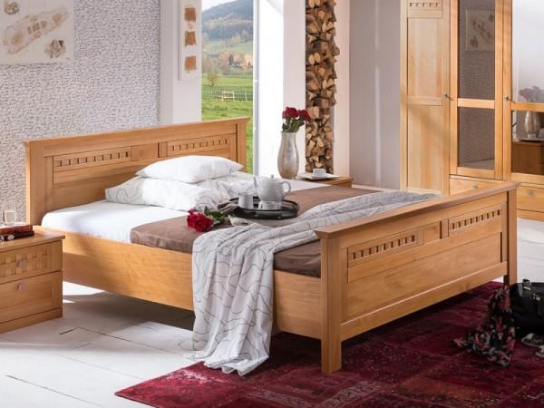 Doppelbett Romantica Pinie Massivholz Honig im Landhausstil 160/180/200x200cm