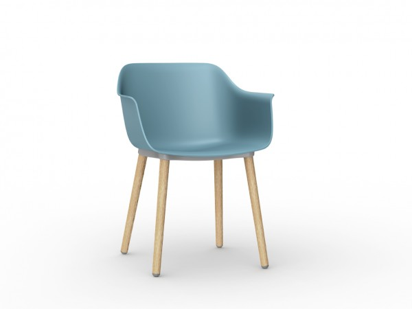 Resol Stuhl Shape Wood blau (2er-Set)