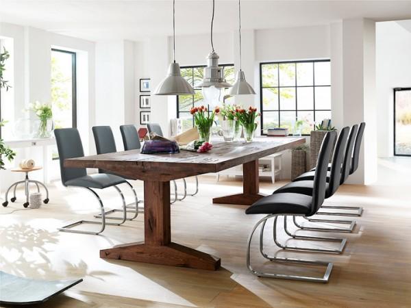 MCA furniture Lunch Esstisch Eiche massiv 400x120