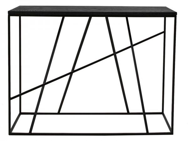 Design Konsole Coster 100 cm breit Eiche schwarz lackiert