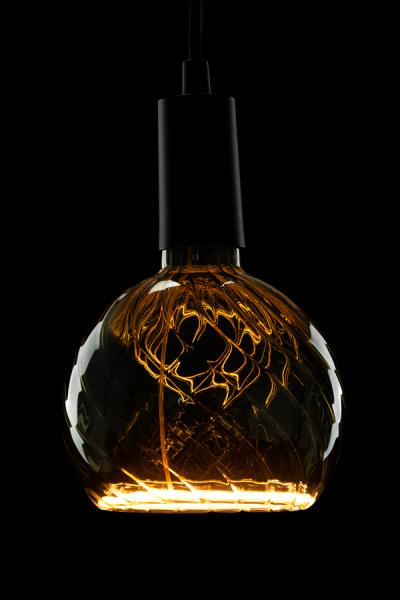Heitronic LED Leuchtmittel Floating Globe R150 twisted smokey grey E27