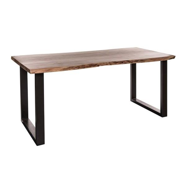 Design Esstisch massiv Baumkante 210x100 cm Akazie matt lackiert