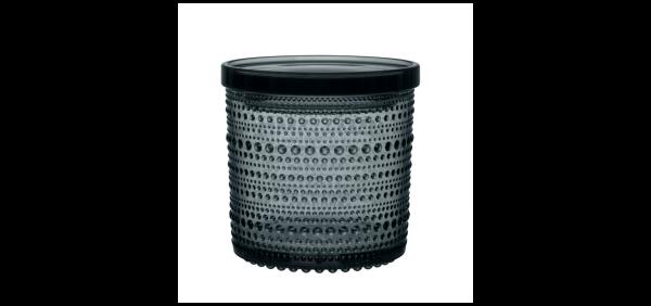 iittala Vorratsglas Kastehelmi dunkelgrau 11 cm