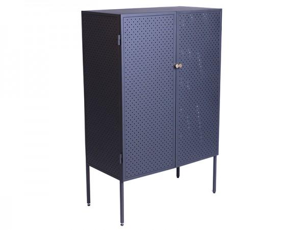 Highboard Brooks mit 2 Türen Metall schwarz