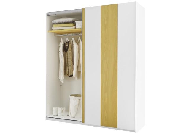 Kleiderschrank Enjoy 243cm breit Schwebetüren in 5 Farben